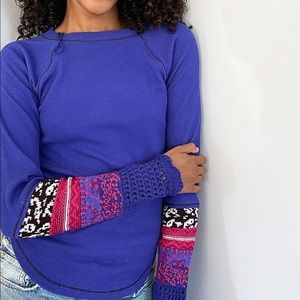 Free People In the Mix Thermal Cuff Top